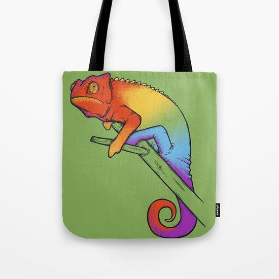 Confused chameleon Tote Bag