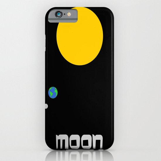 The Moon in Minimal iPhone & iPod Case