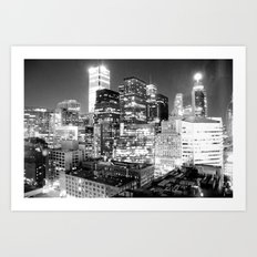 Toronto Lights B&W Art Print