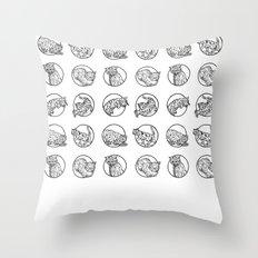 Cat lyf Throw Pillow