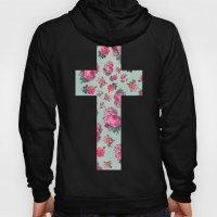 Floral Cross Hoody