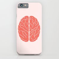 brain iPhone & iPod Cases featuring Brain by Yellow Chair Design