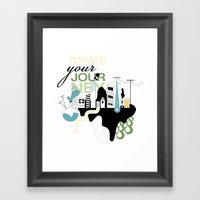 Create Your Journey - Typography & Illustration Framed Art Print
