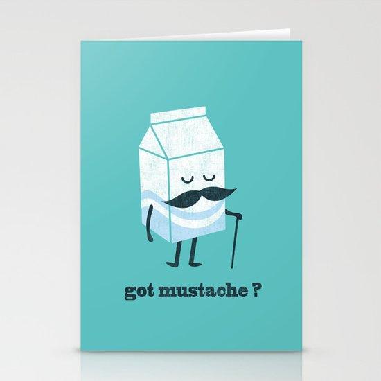 Got mustache? Stationery Card