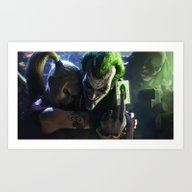 Joker Faces Art Print