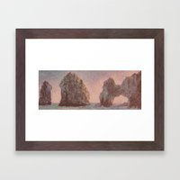 Warm Arches  Framed Art Print