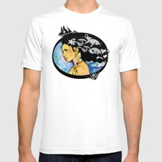 Pirate Nereid - Color SMALL Mens Fitted Tee White