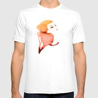 Orange Mens Fitted Tee White SMALL