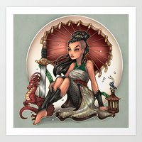 Heart Of A Dragon Art Print