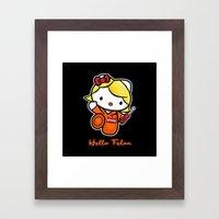 Orange Is The New Cat Framed Art Print