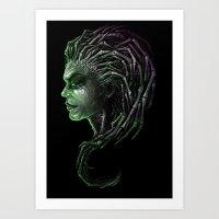 Queen Of Blades Art Print