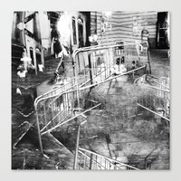 Summer space, smelting selves, simmer shimmers. 21, grayscale version Canvas Print