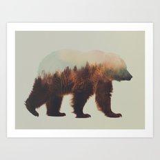 Brown Bear Flipped Art Print