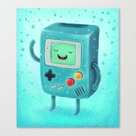 Canvas Print featuring Game Beemo by Lime