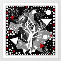 Black And White Abstract… Art Print