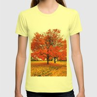 Changing Colors. Womens Fitted Tee Lemon SMALL