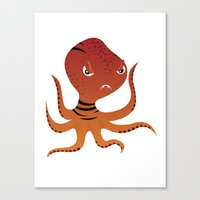 Tiger Squid Canvas Print