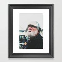 Man At The Tram Station,… Framed Art Print