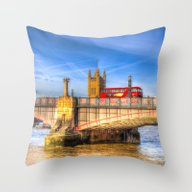Lambeth Bridge London Throw Pillow
