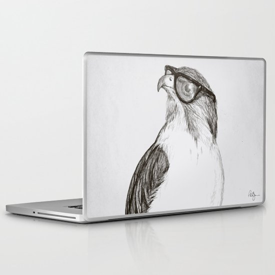 Hawk with Poor Eyesight Laptop & iPad Skin