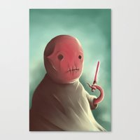 Cuter than master Yoda Canvas Print