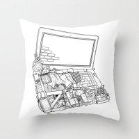 Laptop Surroundings Throw Pillow