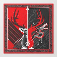 Death to the Adder Lying in Wait Canvas Print
