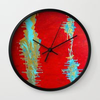 Distress Stains Wall Clock