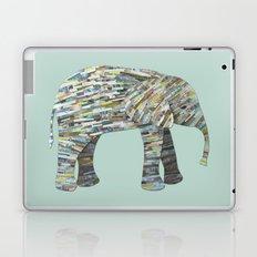 Elephant Paper Collage in Gray, Aqua and Seafoam Laptop & iPad Skin