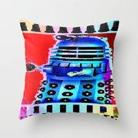 Dalek; Doctor Who; Exter… Throw Pillow