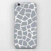 Mosaic Zoom Grey iPhone & iPod Skin