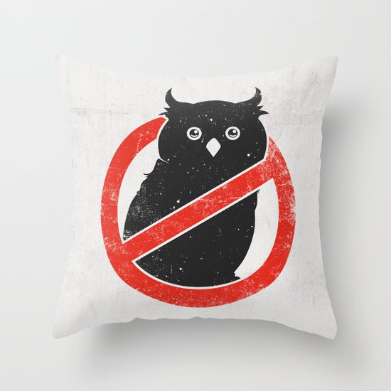 No Owls Throw Pillow