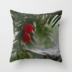 Webbed Berries Throw Pillow
