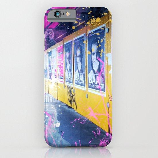 purple and yellow _  little burke graffiti iPhone & iPod Case