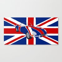 Shaguar (on Union Jack) Canvas Print