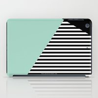 Mint Color Block With St… iPad Case