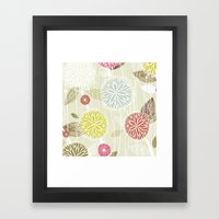 Abstract Floral Beige By… Framed Art Print