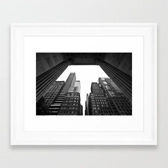 New York under the rain Framed Art Print