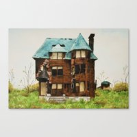 Abandoned House In Detro… Canvas Print