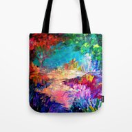 Tote Bag featuring WELCOME TO UTOPIA Bold R… by EbiEmporium