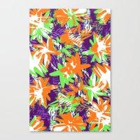 Very Bright flowers  Canvas Print