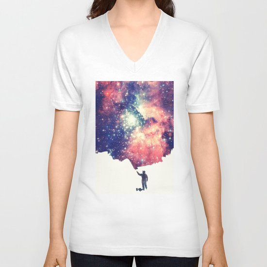 Painting the universe V-neck T-shirt
