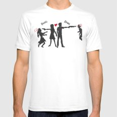 Zombie Hunting White SMALL Mens Fitted Tee