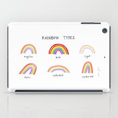 rainbow types iPad Case
