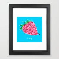 Strawberry. Framed Art Print