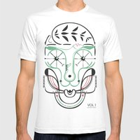 Happy Skull Mens Fitted Tee White SMALL