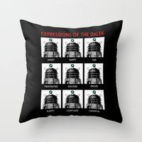 Expressions Of The Dalek Throw Pillow