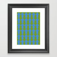 Blue Mainstream Framed Art Print