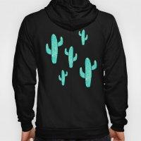 Linocut Cacti Candy Hoody