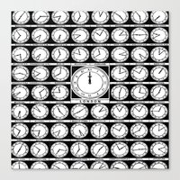 Clocks Canvas Print